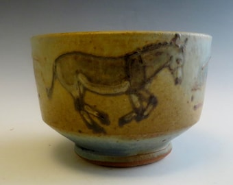 Wee Little Salsa Bowl with Donkeys