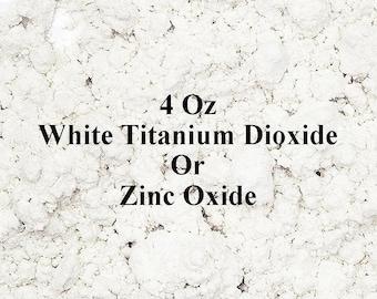Zinc Oxide 4 Oz White Titanium Dioxide - White Pigment Powder - Make Homemade Mineral Makeup or Sunscreen