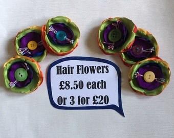 Rainbow Flower-Pride Flower- LBGT Hair Flower-Hair Flower-Hair Clip-Penelope Garcia