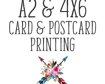4x6 Card & Postcard Printing. Invitations. Announcements. Doubled Sided 4 x 6 Cards. 4x6 Invitation Printing. Add on to Digital Design