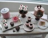 Dollhouse miniature Valentine baking