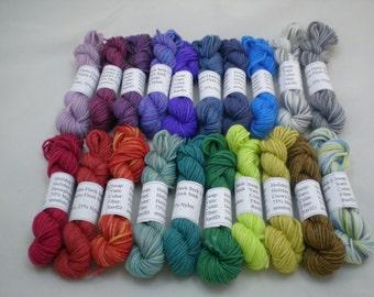 Mini Skeins - Holiday Yarns Flock Sock 5 g set of 20 (set 2)