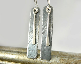 Nickel Free Earrings, Sterling Silver Dangle Earrings, Sterling Silver Jewelry, Cool Earrings, 25th Anniversary Gift, Long Silver Earrings