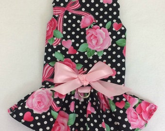 Sweet Things Valentine's Day Dog Dress Size XXXS through MEDIUM by Doogie Couture