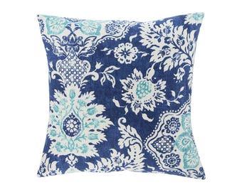BLUE Pillow Cover.Decorator Pillow Cover.Home Decor.Large Print. BELMONT HARBOR. Cushions. Cushion.Pillow. Premier Prints
