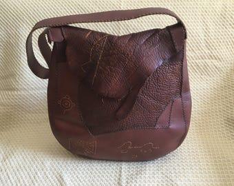 Large dark brown shoulder bag