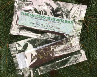 The McKenzie River Bar - Craft Dark Chocolate with Spruce Tips