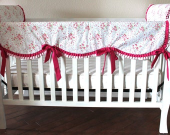 Custom Scalloped Rail Guard Baby Girl You Choose Fabrics Design Your Nursery