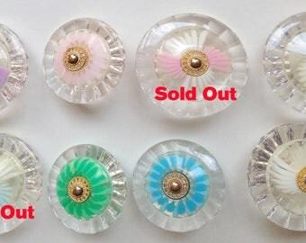 Vintage Buttons Lot Pastel Pretty