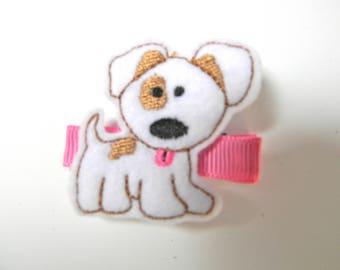 Felt Hair Clip - Felt Dog Hair Clip- Dog Barrette