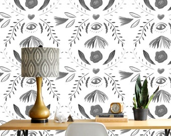 Removable Wallpaper // Damask and You Shall Receive // Perfect for renters // Assorted lengths available