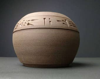 Cuneiform Round Vase