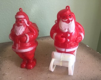 Vintage Santa christmas candy containers