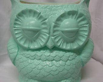 Tootsie Pop Owl Garden Planter Mint Green With Drain Hole