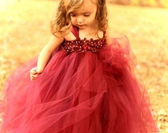 25% off storewide sale Couture Dreams- Beautiful in Burgandy Tutu Dress