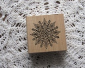 Stamp for Scrapbooking or Card Making- Snowflake In Bloom-Rubber Stamp