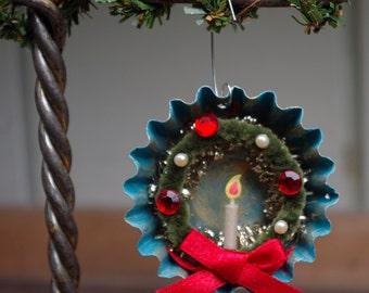 Tart Tin Wreath Ornament