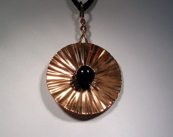 Black Onyx and Copper Necklace