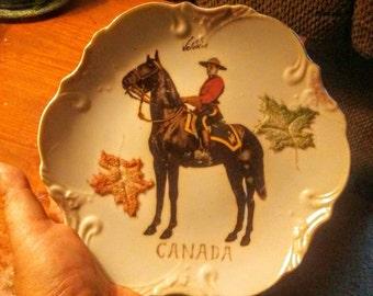 Vintage Canada Mounted Police Souvenir Plate