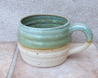 Coffee mug tea cup hand thrown stoneware pottery ceramic handmade wheelthrown