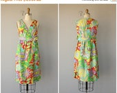 30% OFF FLASH SALE.. Vintage 1960s Dress | 60s Cocktail Dress | Printed Silk Dress 60s | 1960s Party Dress | 60s Dress
