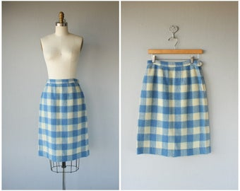 1950s Wool Pencil Skirt | 50s Skirt | 1950s Wool Skirt | 60s Skirt | 1960s Skirt | Plaid Skirt (medium)