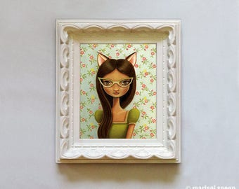 Miss Kitty Fox (RESERVED for Nancy) Pop surrealism by Marisol Spoon