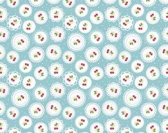 Sew cherry 2 Doily Aqua by Lori Holt for Riley Blake
