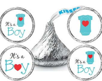 Boy Baby Shower Stickers - Baby Shower Candy Stickers - New Baby Boy Candy Stickers - Set of 324 Stickers
