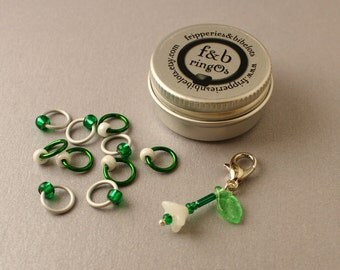 ringOs Limited Edition Snowdrops - Snag-Free Ring Stitch Markers for Knitting