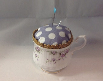 Vintage Cup Pincushion
