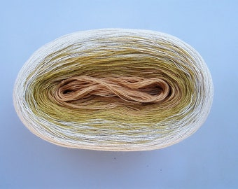 SWEET CREAM II --mega--  Color Changing Cotton yarn  865 yards/180 gr  Fingering Weight