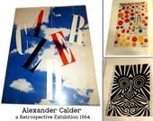 Alexander Calder : a Retrospective Exhibition 1964 Catalog. Guggenheim Museum Calder's mobiles, stabiles, jewelry, wire sculptures, toys.