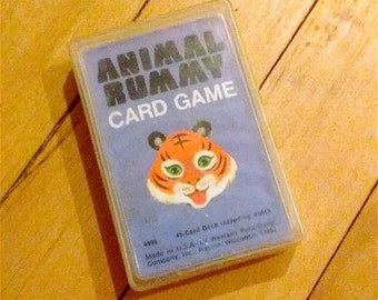 Whitman Animal Rummy playing cards- full deck