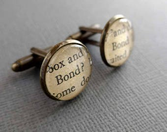 You Only Live Twice James Bond Cufflinks, Cool Cufflinks, Cool Gifts for Him, Men's Accessories, Literary Cufflinks, James Bond