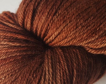 Redwood Fingering Weight Yarn, Plant Dyed Sock Yarn