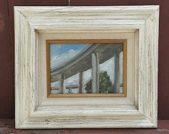 Los angeles - oil painting - landscape - plain air - freeway