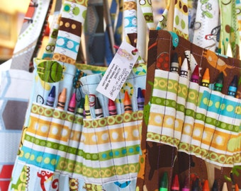 GRAB-AND-GO Hand-Sewn Coloring Book Organizer (Perfect for Roadtrips)