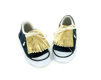 Golf Kilties for Toddler Shoes or Baby Sneakers, Kilties for Kids Golf Shoes, Golf Shoe Accessories for Baby Shoes, Kilties for Infant Shoes