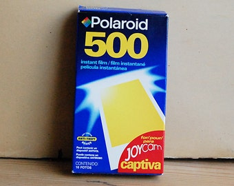 Vintage Polaroid 500 Film Unused Unopened Pack of 10 for Joycam Camera Analog Photography.