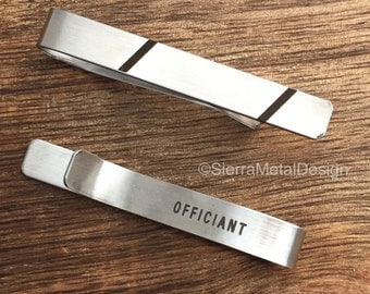 Officiant Tie Clip Officiant Tie Bar Officiant Gift For Officiant Gift Engraved Tie Clip Gift For My Officiant Pastor Gift Wedding Party