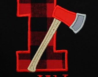 Lumberjack Birthday, Buffalo Plaid, Lumberjack Plaid, Birthday Shirts, Bodysuit, Lumberjack Birthday, Red Buffalo, ALL AGES, Toddler, Custom