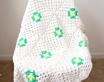 SALE Beautiful Granny Square Crochet Afghan