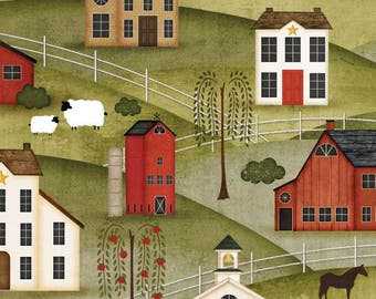 Wilmington Prints - The Way Home - Scenic - Multi - Fabric by the Yard 82498-731