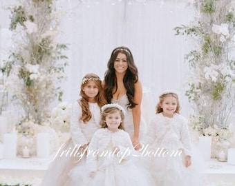 Flower girl dress winter wedding | Etsy