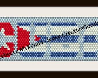 Cuban Flag Bracelet Pattern - Peyote Pattern