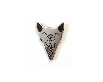 Chihuahua Ice Cream Enamel Pin