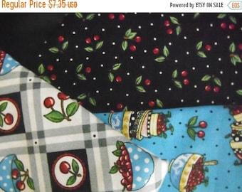 Mary Engelbreits Cherries Fabric-- HARD Find--LAST Piece -- 40-70% off Patterns n Books SALE