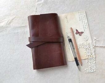 Slim Rustic Leather Sketchbook