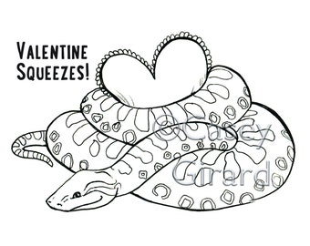 Downloadable - Valentine's Coloring Page